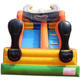 Große aufblasbare Hüpfburg Rutsche Clown kaufen bei huepfburg-guenstig-kaufen.de